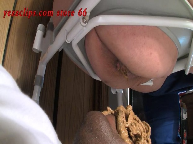 Big booty girl pooping on her Human Toilet slaves - 4