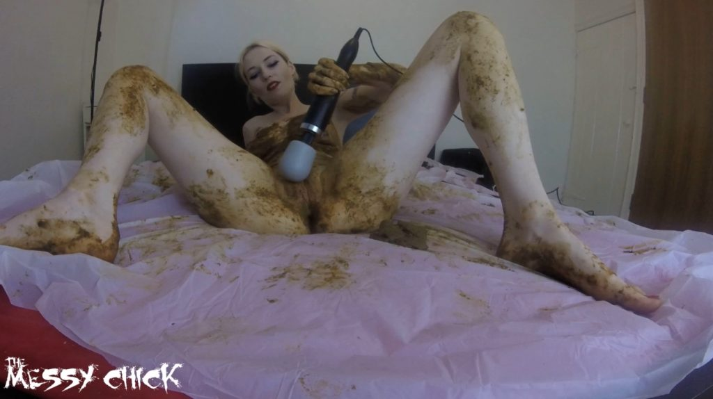 The Messy Chick - Shit Covered Orgasm With My Magic Wand (1080p) 1