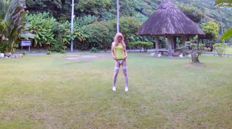 Beautiful garden - Shemale Outdoor Piss and Shit (HD-720p) Image 1