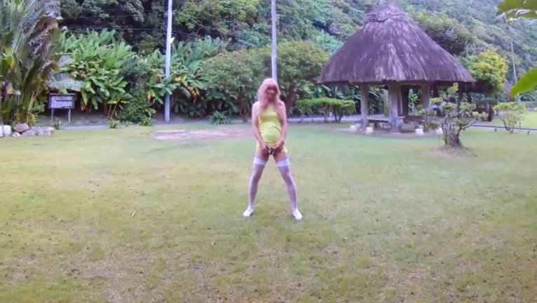 Beautiful garden - Shemale Outdoor Piss and Shit (HD-720p) Image 2