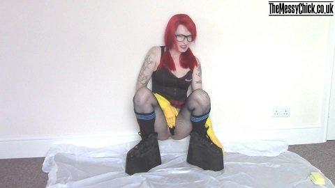 Platform boots pee and messy bj (The Messy Chick aka Mia Fox) Image 1